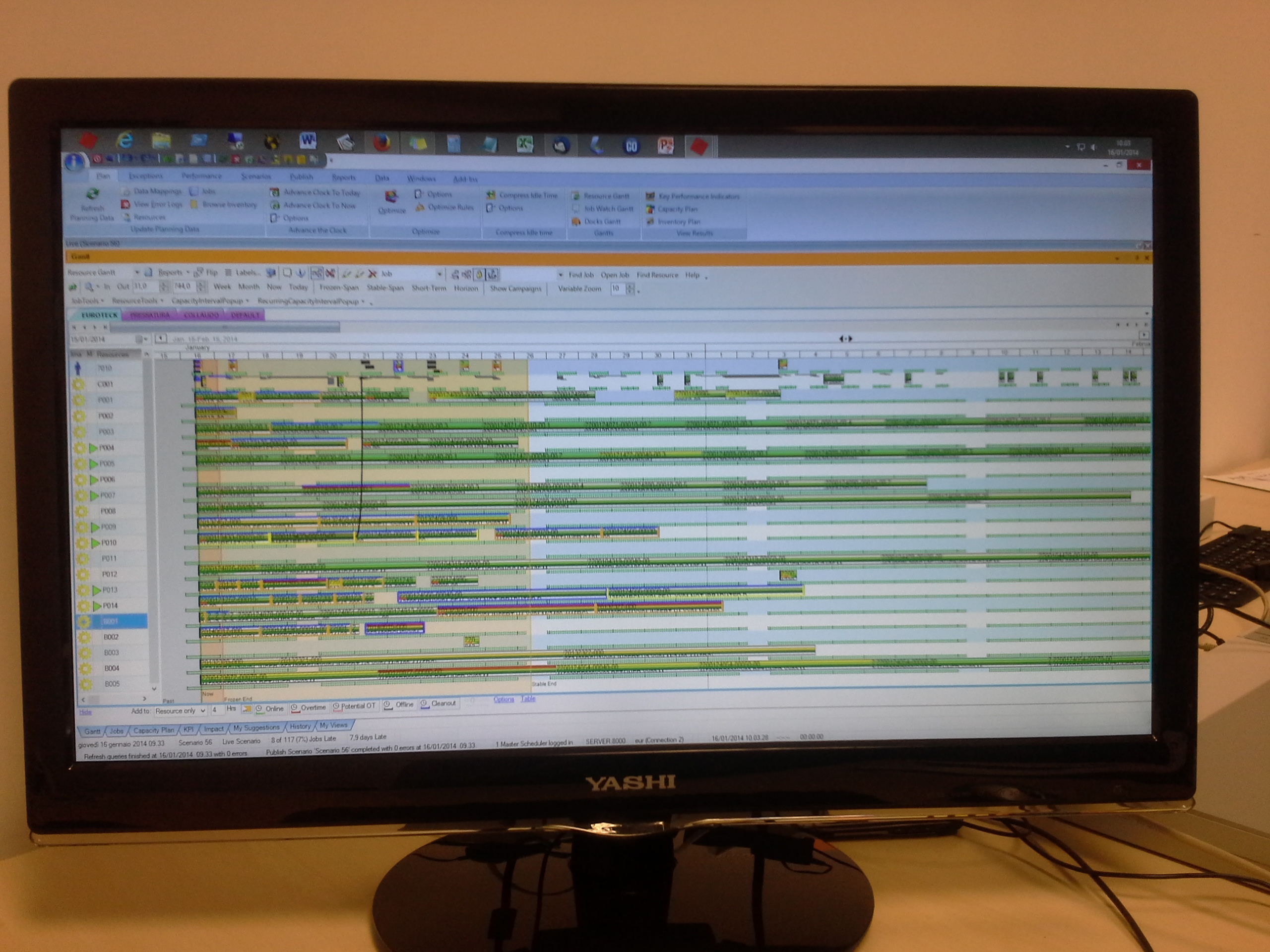 PRODUCTION REAL TIME PLANNING SCHEDULING INJECTION MOLDING ITALY APS OPT SOLUTIONS